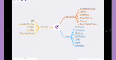 Screenshot von MindNode auf dem iPad