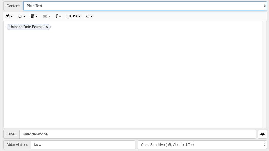Screenshot des TextExpander-Snippets (Teil 2)