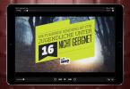 Screenshot eines Spielfilms auf dem iPad