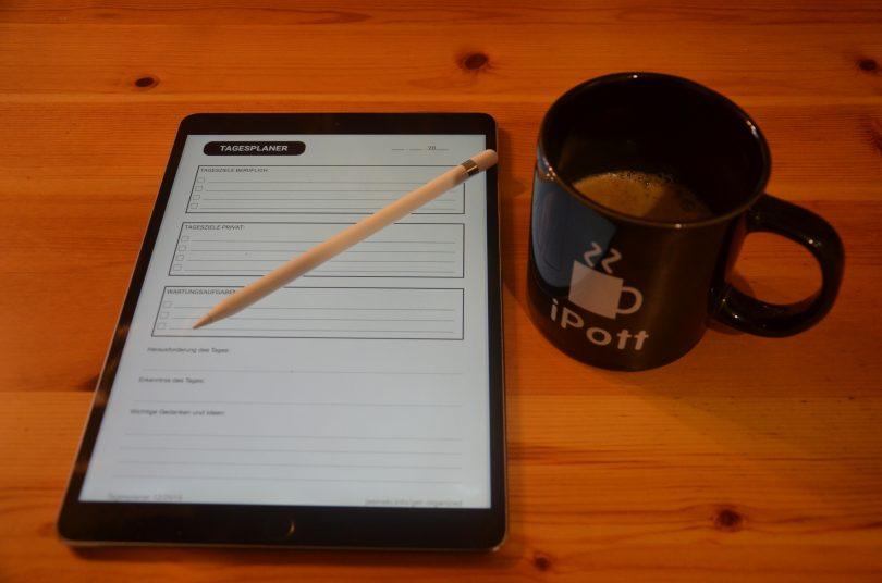 Formular zur Tagesplanung