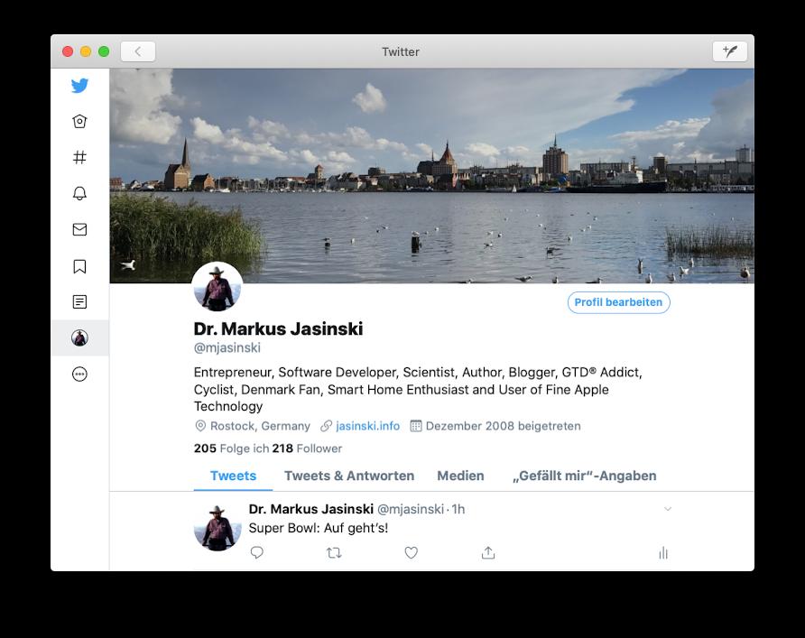 Twitter für macOS