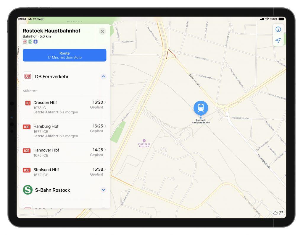 Apple Maps auf dem iPad