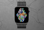 Apple Watch auf grauem Untergrund