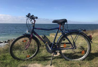 Fahrrad an der Küste