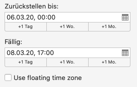 Floating Timezone in OmniFocus