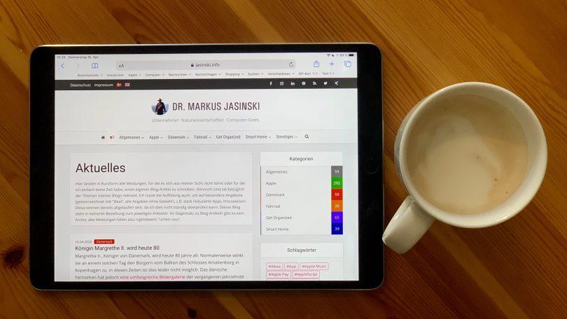 Aktuelles-Bereich meines Blogs