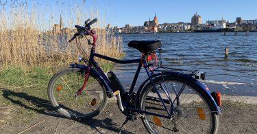 Fahrrad am Gehlsdorfer Ufer