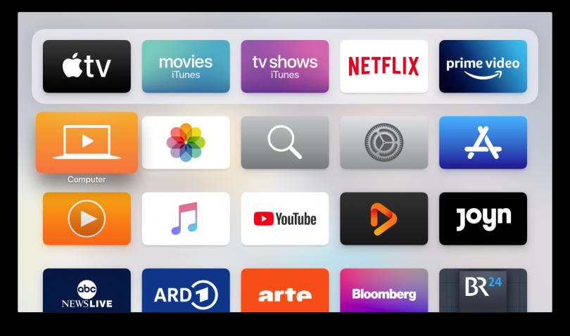 Screenshot vom Apple TV