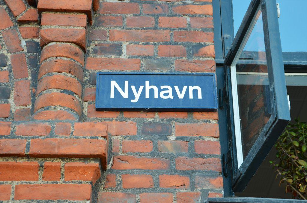 Nyhavn-Straßenschild