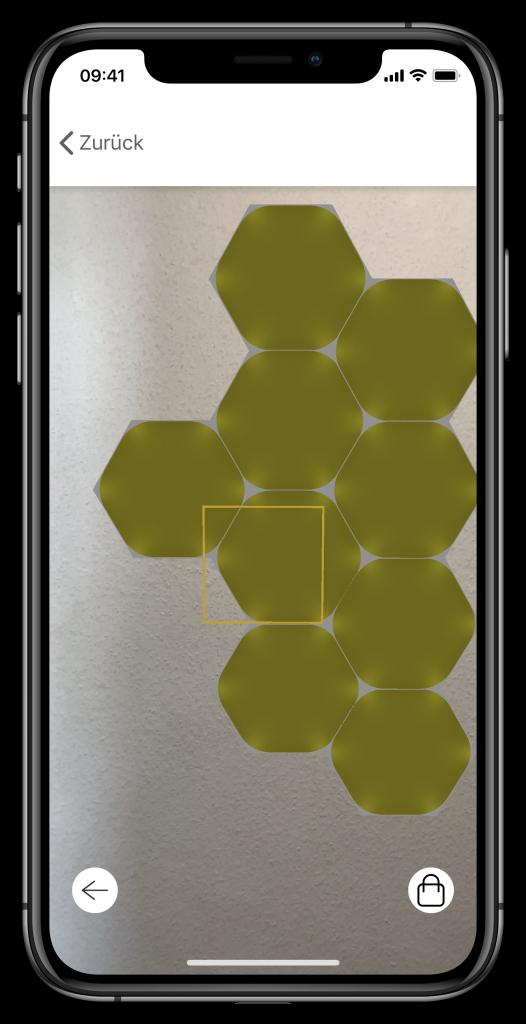 Nanoleafs AR-Tool (Screenshot)