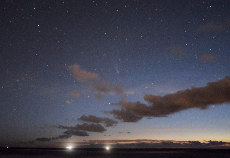 Komet NEOWISE über Rostock-Warnemünde