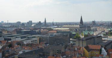 Blick über Kopenhagen vom Turm der Erlöserkirche