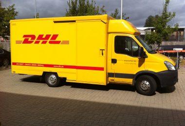 DHL-Lieferwagen (Symbolbild)