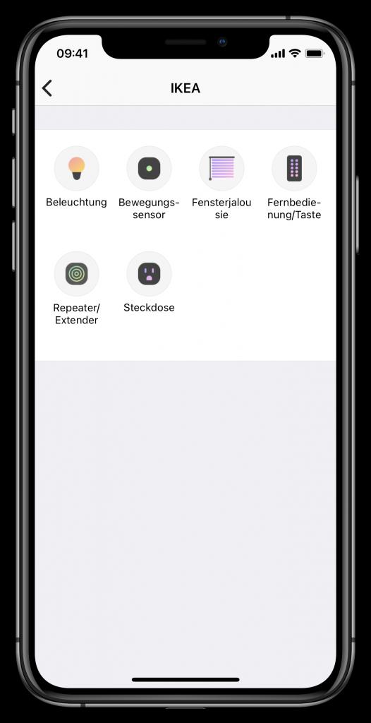 Schalter in SmartThings hinzufügen (Screenshot)