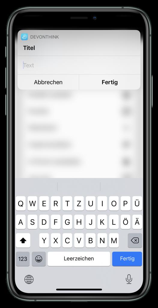Titelabfrage für den Screenshot (Screensot)