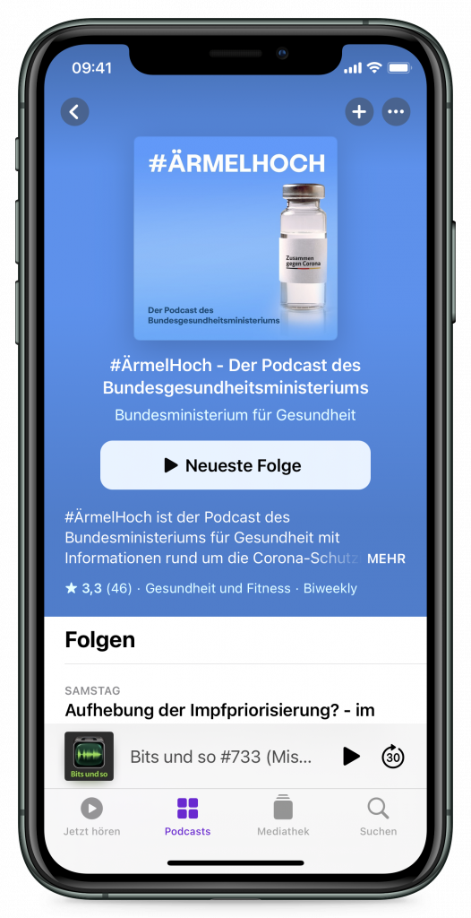 Podcast-App (Screenshot)