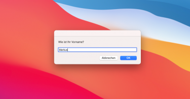 Dialog in AppleScript (Screenshot)