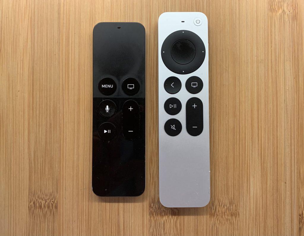 Siri-Remotes alt und neu