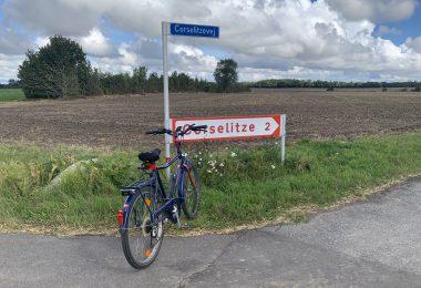 Corselitze mit Fahrrad